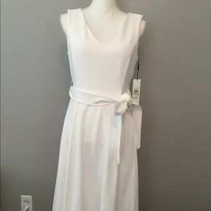 Calvin Klein White Sleeveless Dress